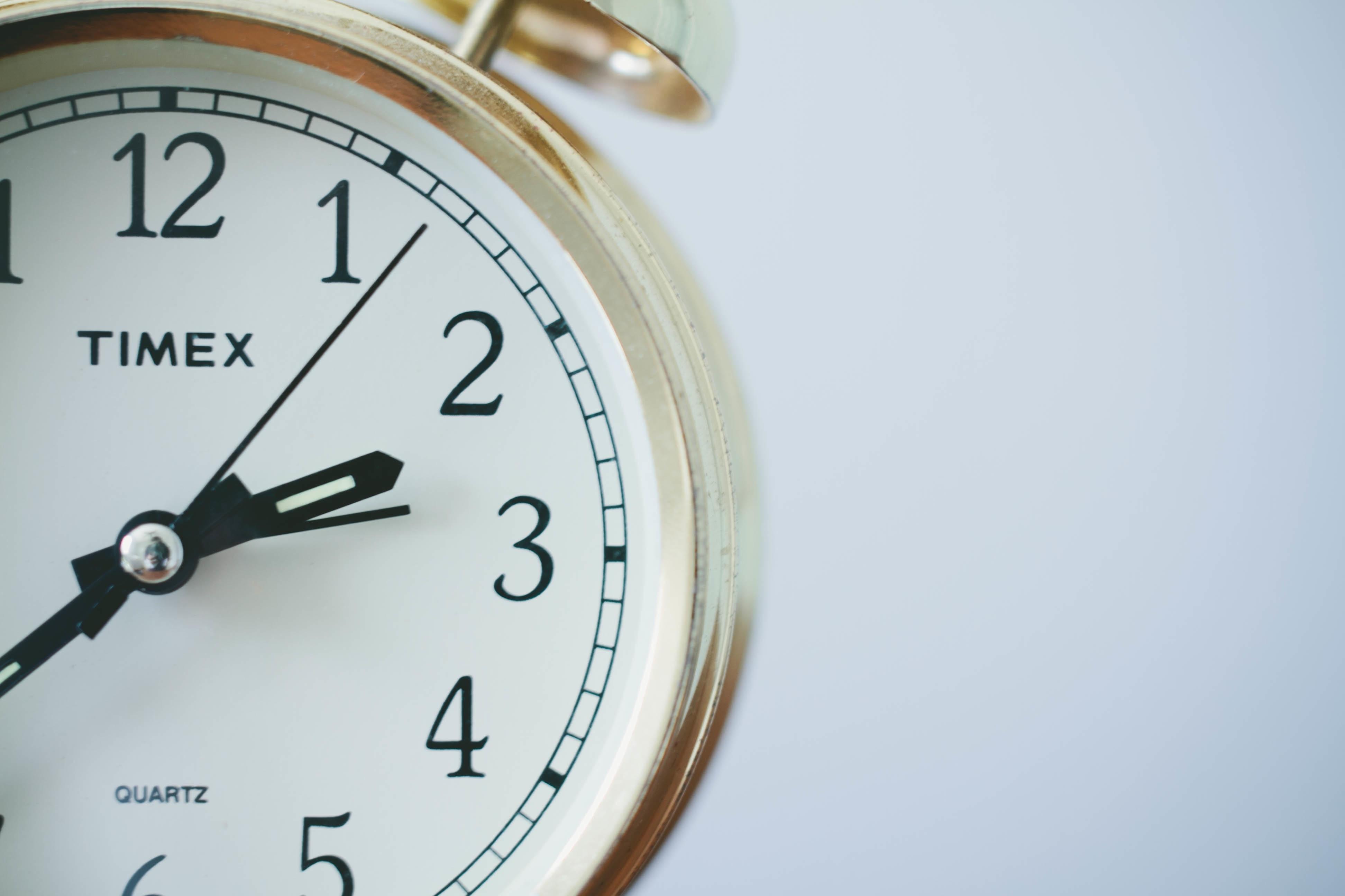 Clock by Sonja Langford via unsplash.com (https://unsplash.com/photos/eIkbSc3SDtI)