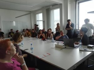 Volles Haus in der Hörbuch-Session.