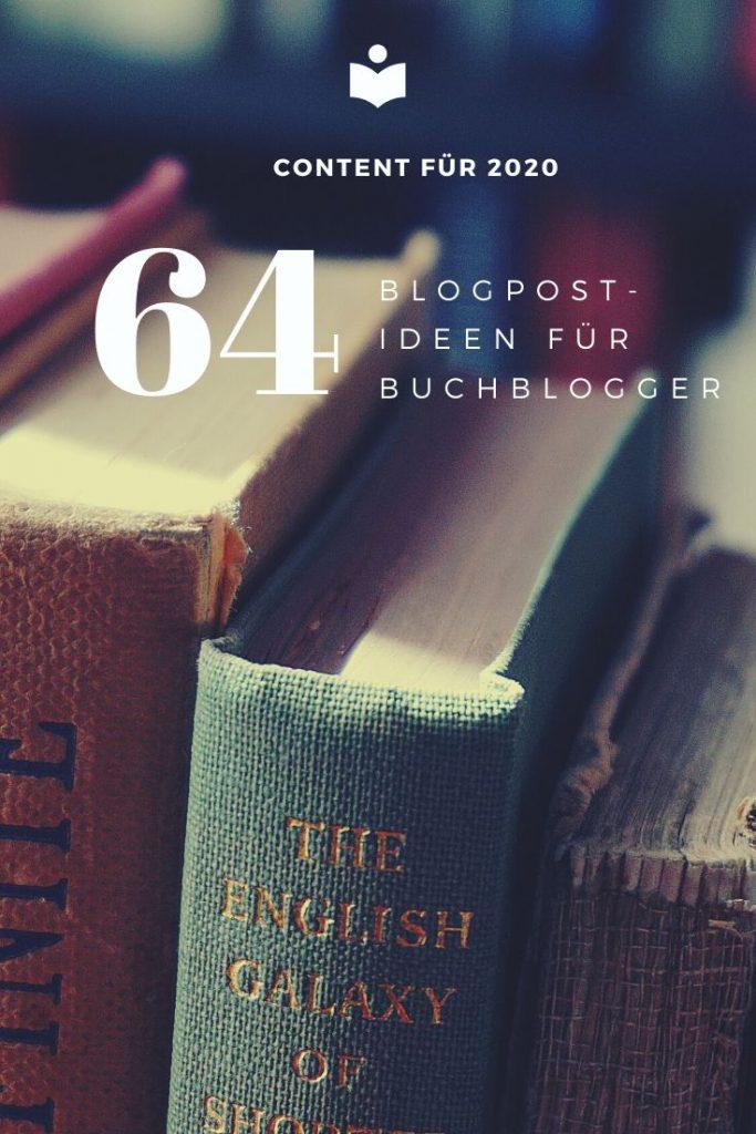 64 Blogpost-Ideen für Buchblogger