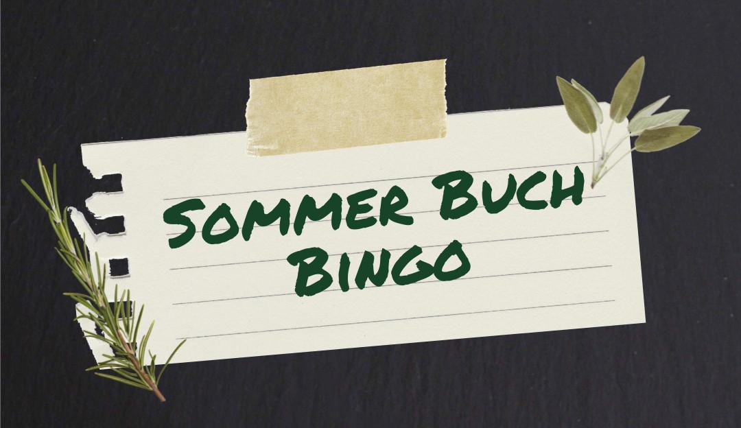 Sommer Buch Bingo